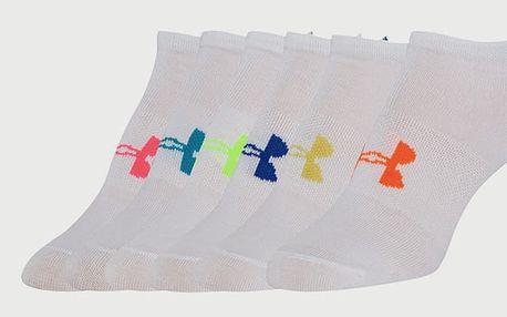 Ponožky Under Armour W Solid 6 Pk (balení po 6) Bílá