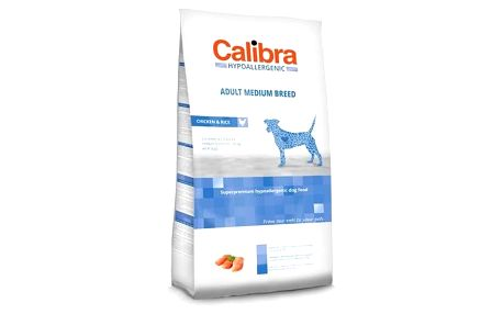 Granule Calibra Dog Hypoallergenic Adult Medium Breed Chicken 14 kg + Doprava zdarma