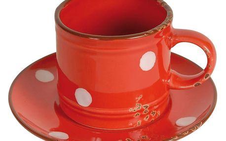 Hrnek s podšálkem Antic Line Cup Red