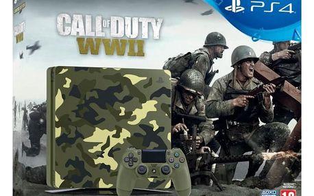 Herní konzole Sony PlayStation 4 Slim, 1TB, kamufláž + Call of Duty WW II + That's You