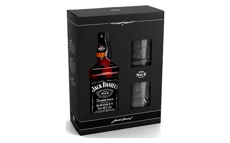 Jack Daniels 0,7l 40% + 2x sklo dárkové balení karton