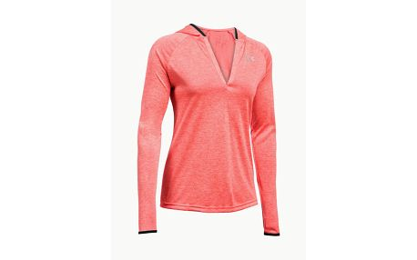 Mikina Under Armour Tech LS Hoody - Twist Červená