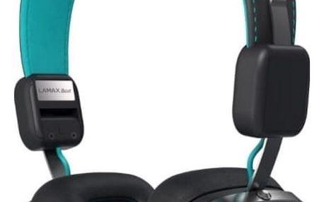 Sluchátka LAMAX Beat Elite E-1 (8594175351514) tyrkysová Tričko LAMAX Joy For Life (L), pro Sounder/Elite/X7.1/X8.1/X10 černé/modré