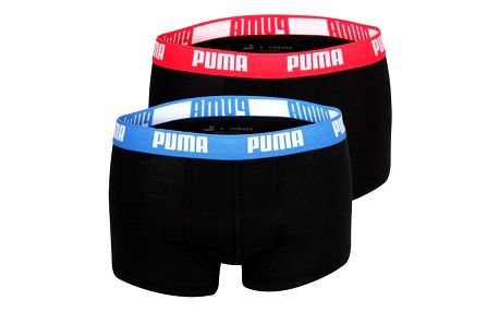2PACK Pánské Boxerky Puma Black - Red / Blue Short XL