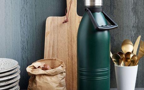 House Doctor Nerezová termoska Green 1,5 l, zelená barva, kov