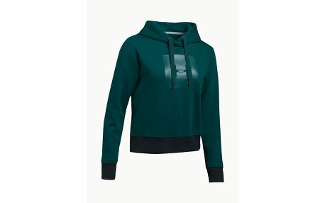 Mikina Under Armour Threadborne Fleece BL Hoodie Zelená