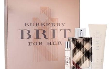 Burberry Brit dárková kazeta pro ženy parfémovaná voda 100 ml + parfémovaná voda 7,5 ml + tělové mléko 75 ml