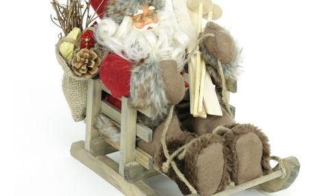 Vánoční soška Santa Claus na sáních Unimasa