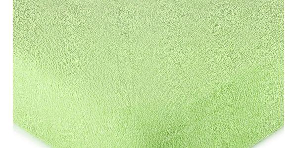 4Home froté prostěradlo zelená, 160 x 200 cm