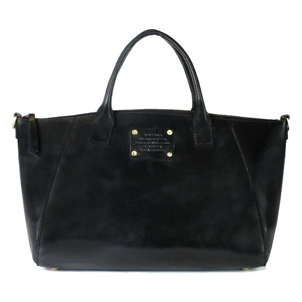 Černá kožená kabelka O My Bag Fly Violet Maxi - doprava zdarma!