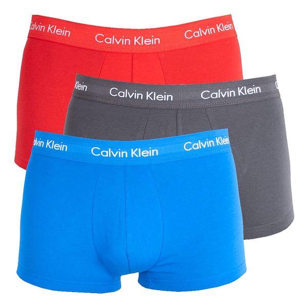 3PACK pánské boxerky Calvin Klein barevné XL