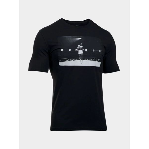 Tričko Under Armour Ali Rtnj Rumble Photo Tee Černá