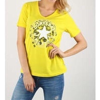 Dámské tričko Converse Daisy CP Vneck Tee žlutá S