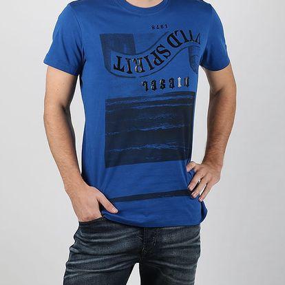 Tričko Diesel Snt-Spirit Maglietta Modrá