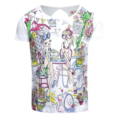 Bílé holčičí triko s potiskem Bóboli