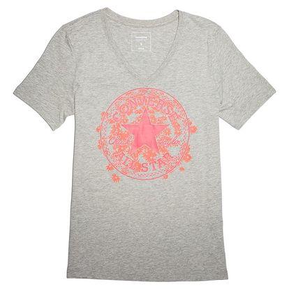 Dámské tričko Converse Daisy CP Vneck Tee šedá S