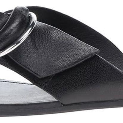 Černé dámské kožené pantofle se sponou Vagabond Tia