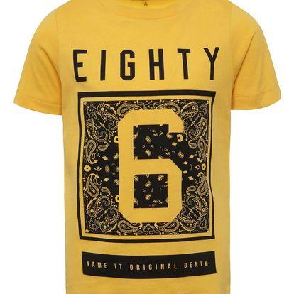 Žluté klučičí triko s potiskem name it Jus