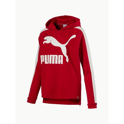 Mikina Puma Archive Logo T7 Hoody Toreador Červená