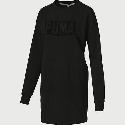 Šaty Puma FUSION Crew Sweat Dress Černá