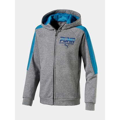 Mikina Puma STYLE Hooded Jkt (graphic) Šedá