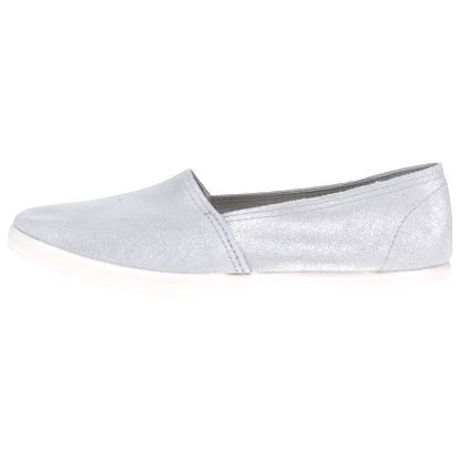 Dámské semišové loafers ve stříbrné barvě OJJU