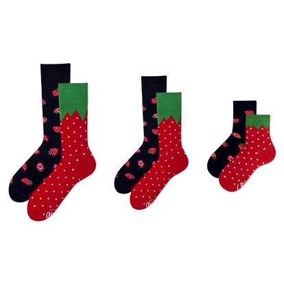 Rodinná sada 3 párů ponožek Many Mornings Strawberry Grand