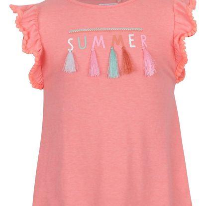 Oranžové holčičí tričko s volány 5.10.15.