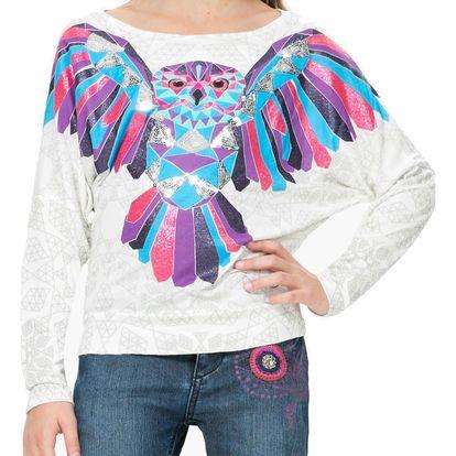 Desigual bílé dívčí tričko Indiana