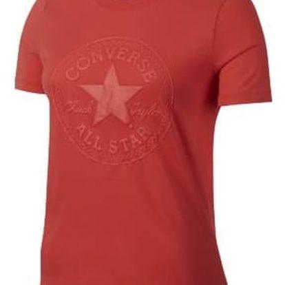 Dámské tričko Converse Puff CP crex Tee červená S