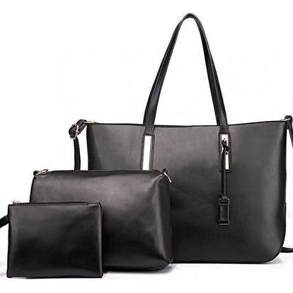 SET: Dámská černá kabelka Connie 1435S