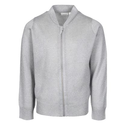 Šedý třpytivý holčičí cardigan na zip name it Kaboma