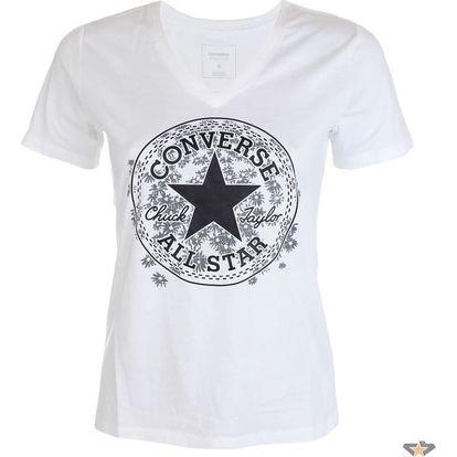 Dámské tričko Converse Daisy CP Vneck Tee bílá S