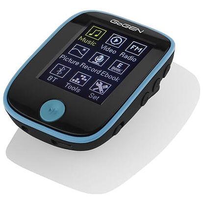 MP3 přehrávač GoGEN MXM 421 GB8 BT černý/modrý