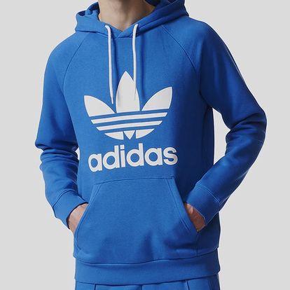 Mikina adidas Originals TREFOIL HOODY Modrá