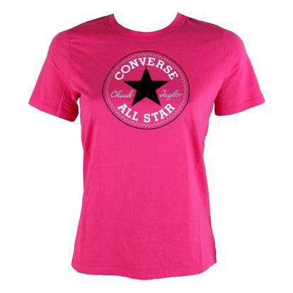Dámské tričko Converse core solid Chuck Patch crew růžová S