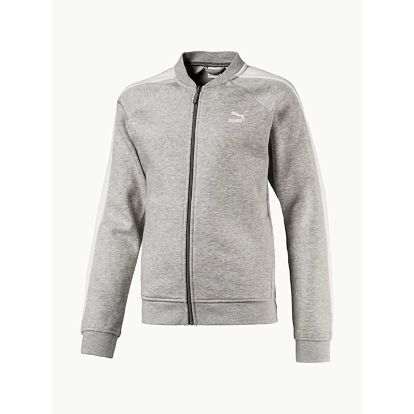 Mikina Puma Classic Jacket (T7) Medium Gray Heather Šedá