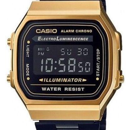 Casio A 168GB-1B + nůž, pojištění hodinek, doprava ZDARMA, záruka 3 roky