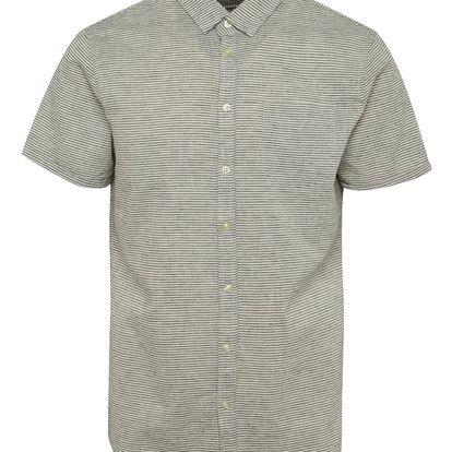 Krémová pruhovaná košile s krátkým rukávem Blend