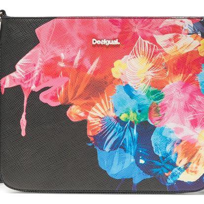 Desigual černá kabelka s barevnými motivy Corel Molina