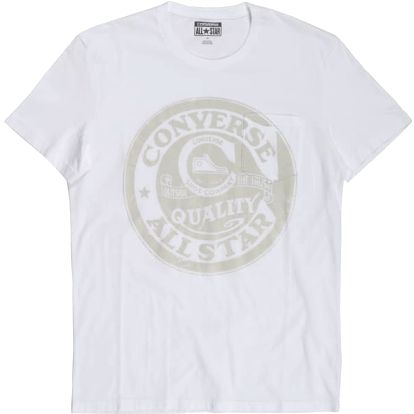 Pánské tričko Converse AMT CONVERSE OLD SCHOOL White M