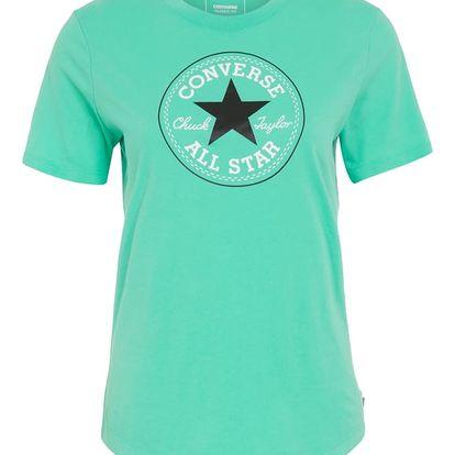Dámské tričko Converse core solid Chuck Patch crew zelená L
