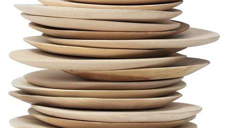 HK living Talíř z mangového dřeva, béžová barva, dřevo