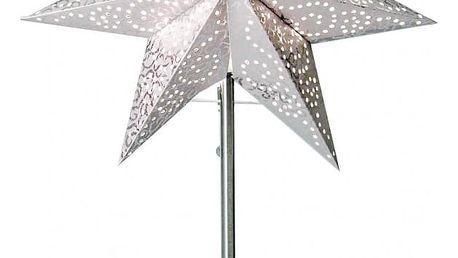 STAR TRADING Stolní lampa Antique Star, šedá barva, bílá barva, papír