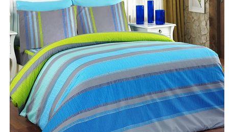 Bedtex povlečení ELLE tyrkys bavlna, 140 x 220 cm, 70 x 90 cm