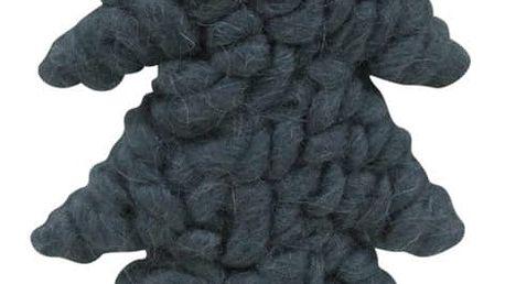 Dekorativní stromek Côté Table Tricot Blue, 36,5 x 18 cm