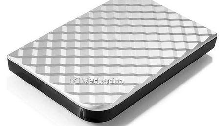 """Externí pevný disk 2,5"""" Verbatim Store 'n' Go GEN2 1TB (53197) stříbrný + Pouzdro na HDD Verbatim Store 'n' Go 2,5"""" - černé v hodnotě 143 Kč + Doprava zdarma"""