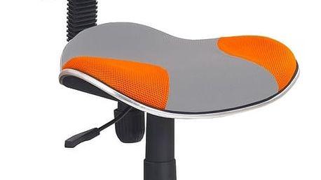 Halmar Dětská židle FLASH 2, šedo-oranžová