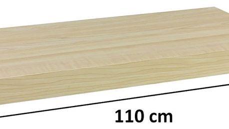 STILISTA 31083 Nástěnná police VOLATO - světlé dřevo 110 cm