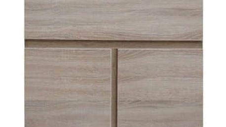 Skříňka s barem, typ 12, třídveřová, dub sonoma, PANAMA